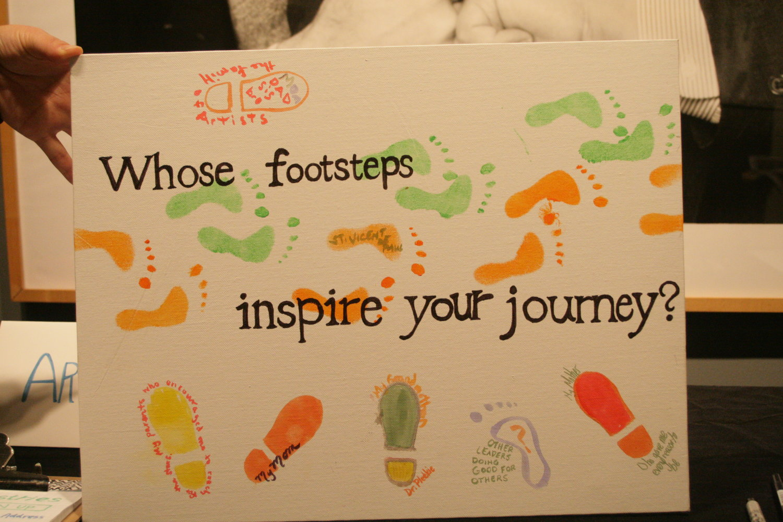 Footstep Art Response Canvas