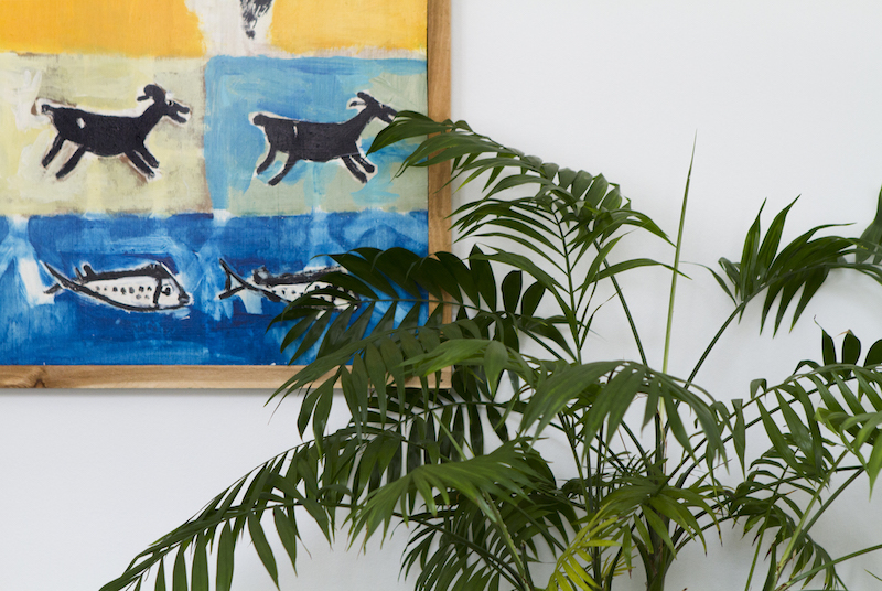 Live Oak Jeff Levy's room art and plant